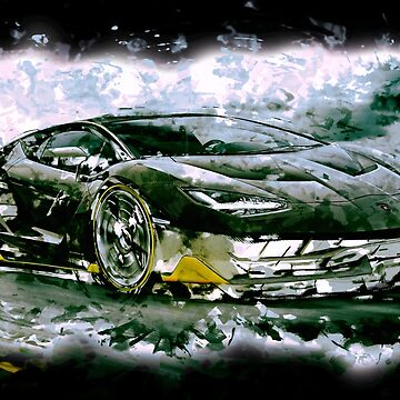 Lamborghini Centenario - watercolour by HogarthArts