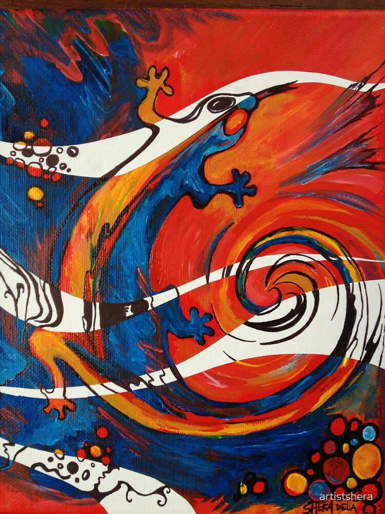 Spiral Lizard by artistshera
