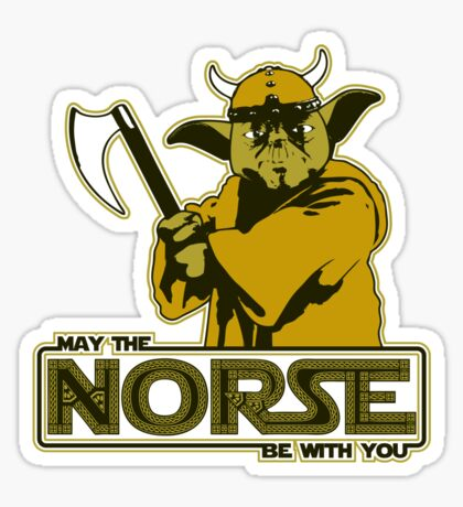 May The Norse Be With You Sticker