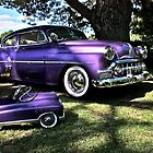Purple Chevrolet Hot Rod with Baby by Ferenghi