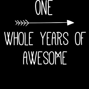 Birthday 1 Whole Years Of Awesome by with-care