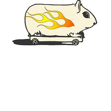 Rubino Funny Race Car Gerbil Hamster by RubinoCreative