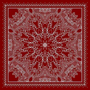 Red Bandana Design #1 by Chunga