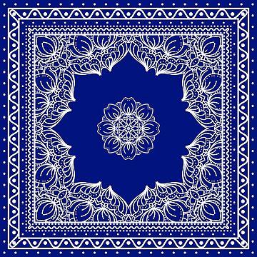 Blue Bandana Design #2 by Chunga