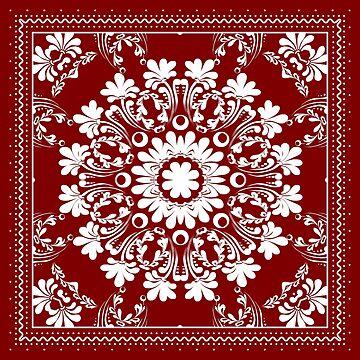 Red Bandana Design #2 by Chunga