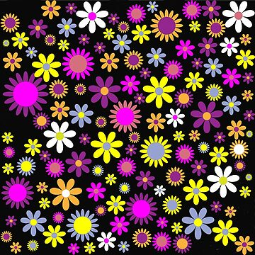 Abstract colorful flowers by dechap