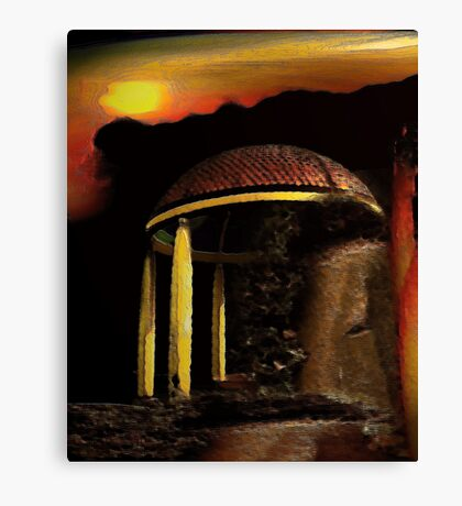 ancient pavilion....... abstract time structures Canvas Print