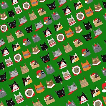 Christmas Cats Design Cute Fun and Festive by emmafifield