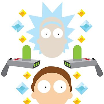 RICK and MORTY flat lay (no logo) by castl3t0ndesign