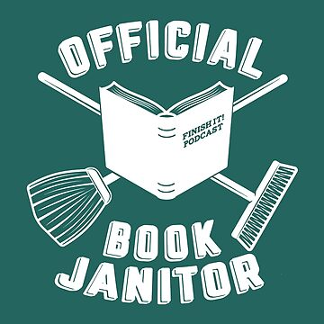 Book Janitor (white) by FinishItPod