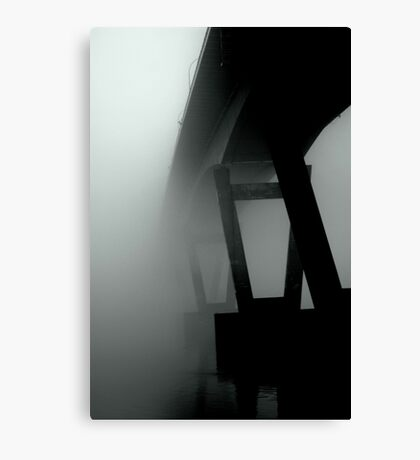 Mission Bridge in the Fog Canvas Print