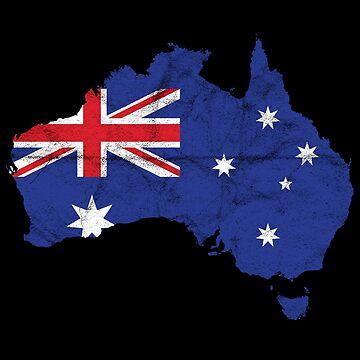 'Australia' Cool Flag Australia  by leyogi