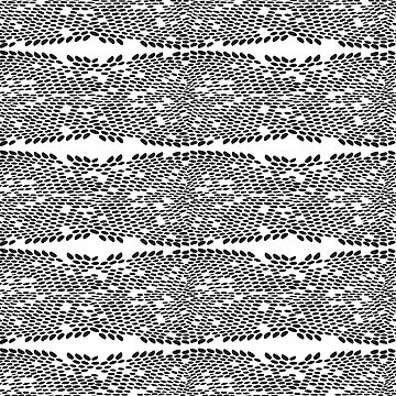 Snake skin scales texture. Seamless pattern black on white background. simple ornament by EkaterinaP