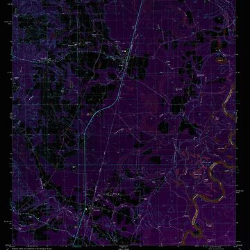 USGS TOPO Map Louisiana LA Angie 331275 1982 24000 Inverted by wetdryvac