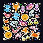 cute kawaii Aries, Taurus, Gemini, Cancer, Leo, Virgo, Libra, Scorpio, Sagittarius, Capricorn, Aquarius and Pisces by EkaterinaP