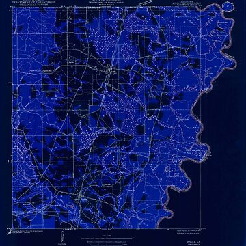 USGS TOPO Map Louisiana LA Angie 333617 1949 31680 Inverted by wetdryvac