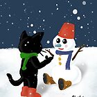 Talk to snowman by BATKEI