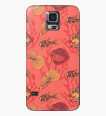 Fishes on living coral background Case/Skin for Samsung Galaxy