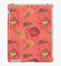 Fishes on living coral background iPad Case/Skin