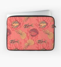 Fishes on living coral background Laptop Sleeve