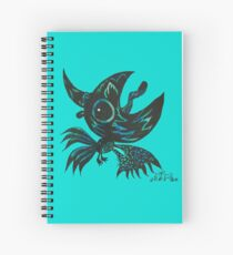 the black crow shout out to the moon  Spiral Notebook