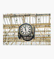 Uhr London Waterloo Station Fotodruck
