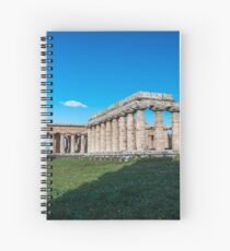 Ancient Greek Temples at Paestum Italy Spiral Notebook