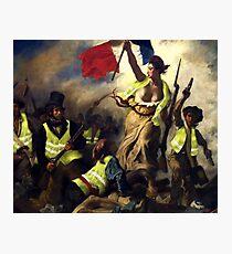 Lámina fotográfica La libertad guiando a los Gilet Jaunes