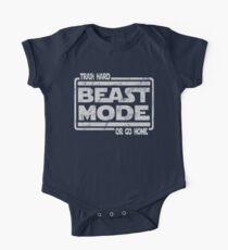 Beast Mode - Train Hard Or Go Home One Piece - Short Sleeve