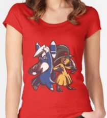 Meowstic and Mawile Women's Fitted Scoop T-Shirt