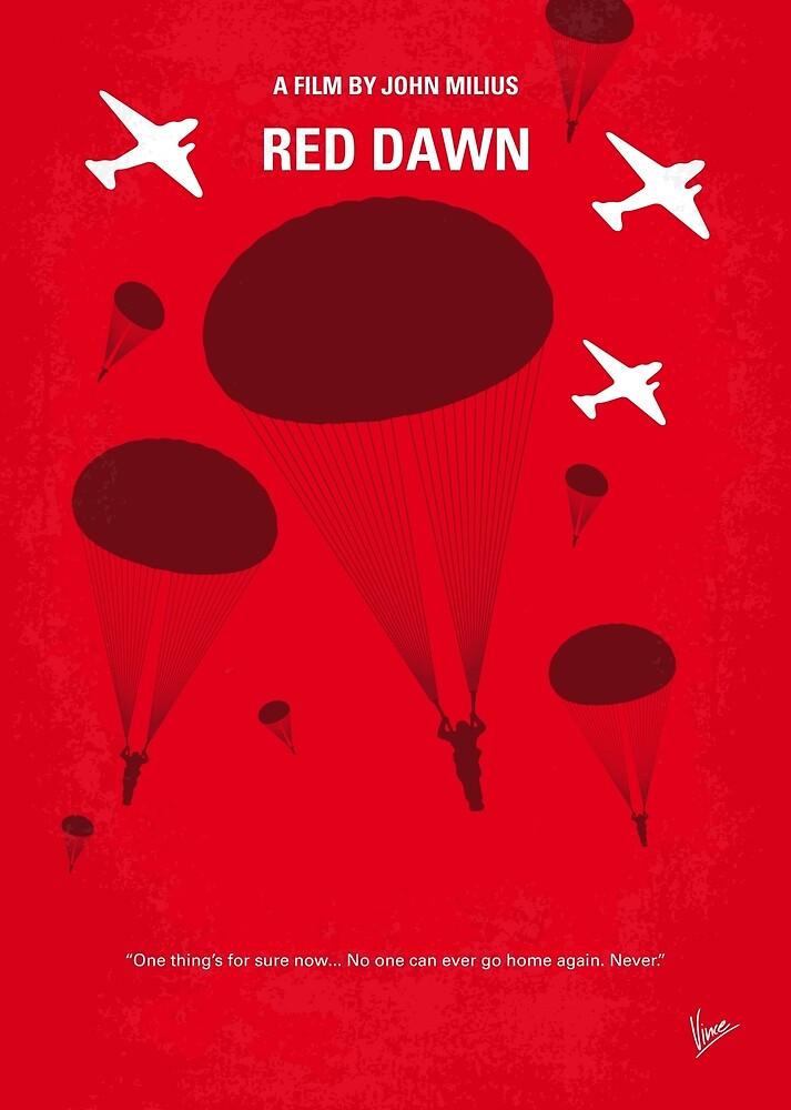 No1018 Mein Red Dawn minimales Filmplakat von ChungKong Art