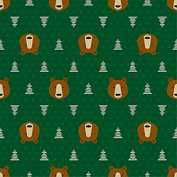 Pattern with brown bears by alijun