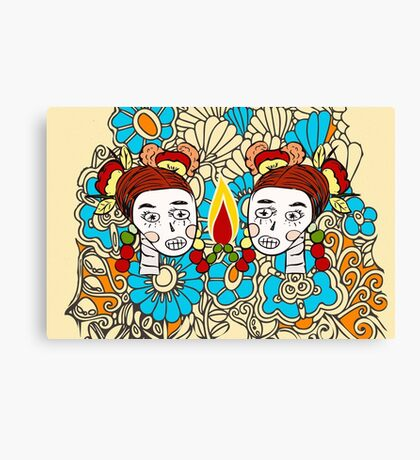 Sugar skull sisters from Frenchtoastygood  Canvas Print