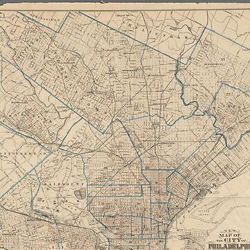 Vintage Philadelphia map by Geekimpact