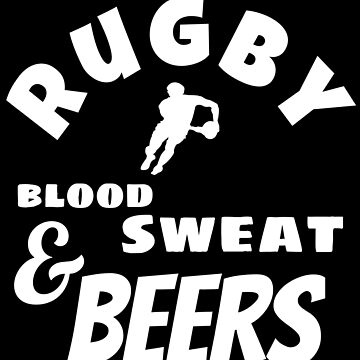 Rugby Blood Seat and Beers Rugby Union Beer and Ruck Fans by MandWthings