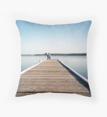 Warners Bay Jetty Throw Pillow