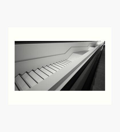 Porsche Museum - Stairs 3 Art Print