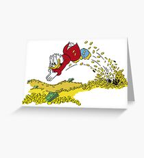 Scrooge McDuck diving into money Greeting Card