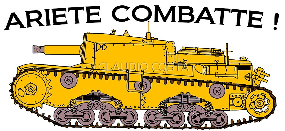 Semovente 75/18 - Ariete Combatte ! by CLAUDIO COSTA
