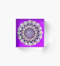 80 karat Mandala Acrylic Block