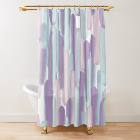 Crowd #redbubble #abstractart Shower Curtain