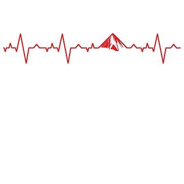 Born to Hike ECG by eldram