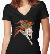 Amaterasu Women's Fitted V-Neck T-Shirt