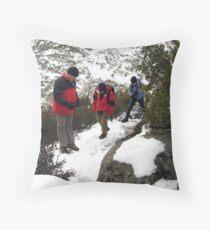 Hiking Mount Buffalo Throw Pillow