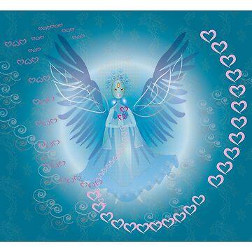 Blue Heart Angel by shimaart