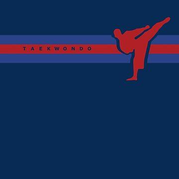 Taekwondo Stripes Blue Stripe Belt (3rd Kup) by sher00