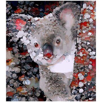 A Cute Koala - Painted Portrait by Chunga