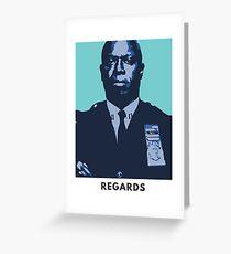 """Brooklyn Nine Nine Card """"Regards"""" Captain Raymond Holt  Greeting Card"""