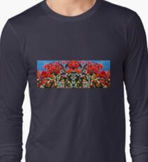 Flowering Gum Sky- Outrageous Orange Long Sleeve T-Shirt