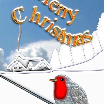 Merry Christmas from the Baby Robin by ZipaC